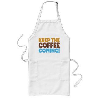 Behalten Sie das Kaffee-Kommen Lange Schürze
