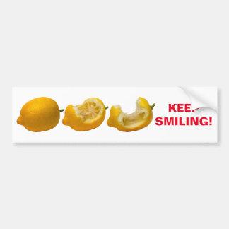 Behalten Sie das Lächeln Autoaufkleber