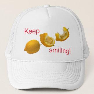Behalten Sie das Lächeln Truckerkappe