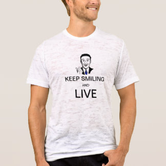Behalten Sie das Lächeln und leben Sie T-Shirt