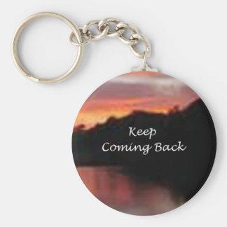 Behalten Sie das Zurückkommen Schlüsselanhänger