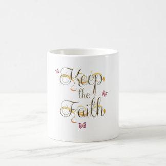 Behalten Sie den Glauben 1 Kaffeetasse
