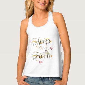 Behalten Sie den Glauben 1 Tanktop