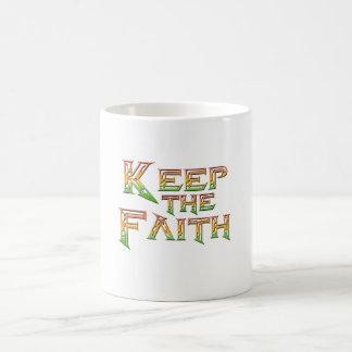 Behalten Sie den Glauben 2 Kaffeetasse
