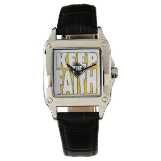 behalten Sie den Glauben Uhr
