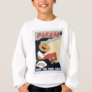 Behalten Sie den Park sauber Sweatshirt