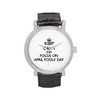 Behalten Sie den Tag der Ruhe-und Fokus-im April