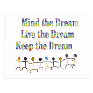 Behalten Sie den Traum Postkarte
