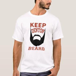 Behalten Sie Denton Bart-weißen T - Shirt-Mann T-Shirt
