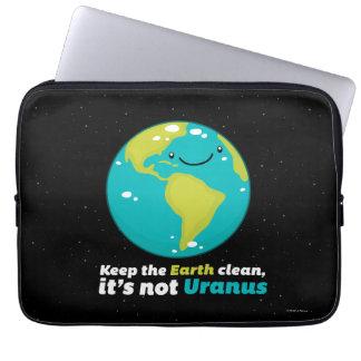 Behalten Sie die Erde sauber Laptop Sleeve