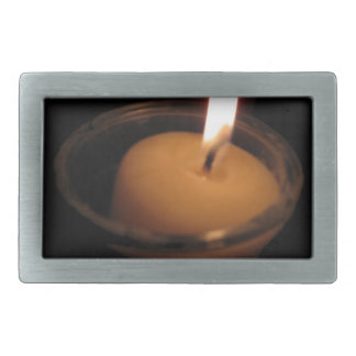 Behalten Sie die Flammen-brennende Kerze Rechteckige Gürtelschnalle