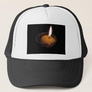 Behalten Sie die Flammen-brennende Kerze Truckerkappe