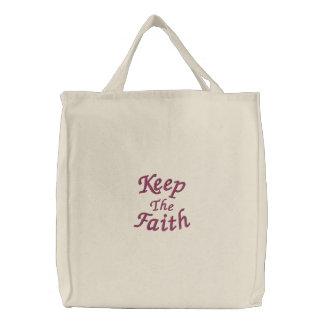 Behalten Sie die Glauben-Inspirational gestickte T