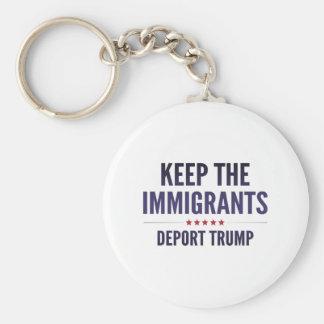 Behalten Sie die Immigranten Schlüsselanhänger