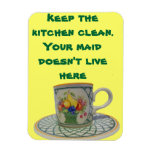 Behalten Sie die Küche sauber Rechteckige Magnete