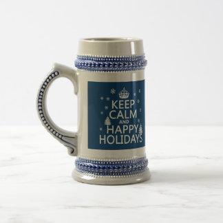 Behalten Sie die ruhigen und glücklichen Feiertage Bierglas