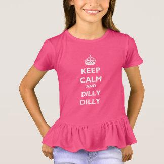 Behalten Sie die Rüsche-T - Shirt Ruheund Dillyder