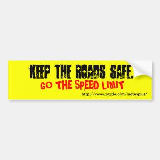 Behalten Sie die Straßen sicher Autoaufkleber