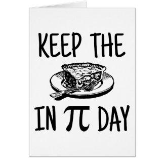 Behalten Sie die Torte an PU-Tag Karte
