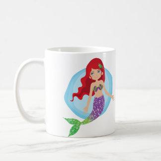 Behalten Sie einfach Schwimmen-Meerjungfrau-Schale Kaffeetasse