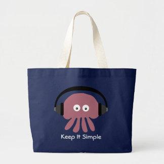 Behalten Sie es einfache DJ-Quallenstrandtasche Einkaufstaschen