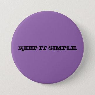 Behalten Sie es einfacher großer lila Knopf Runder Button 7,6 Cm