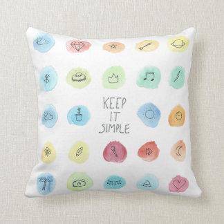Behalten Sie es einfaches Splotch-Muster auf Kissen