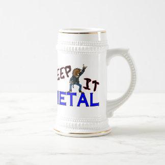 Behalten Sie es Metall Bierglas