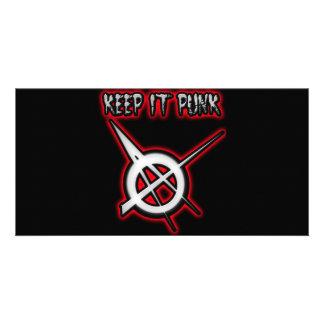 BEHALTEN Sie ES PUNKTypmädchen Punk-Musik Photo Karten