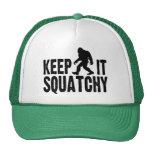 Behalten Sie es Squatchy Fernlastfahrer-Hut Trucker Cap
