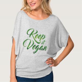 Behalten Sie es veganes glückliches Zitat Tshirt