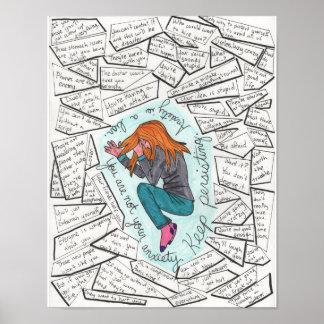 Behalten Sie fortbestehendes (Angst) 11x14 Poster