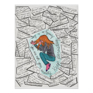 Behalten Sie fortbestehendes (Angst) 18x24 Poster