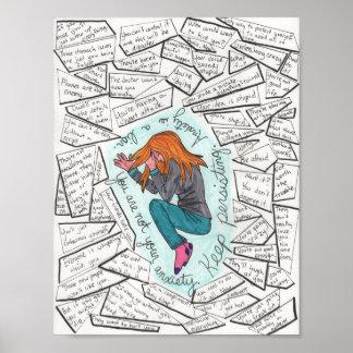 Behalten Sie fortbestehendes (Angst) 8.5x11 Poster