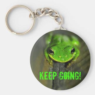 Behalten Sie gehenden Frosch Keychain Schlüsselanhänger