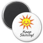 Behalten Sie glänzenden glücklichen Runder Magnet 5,1 Cm