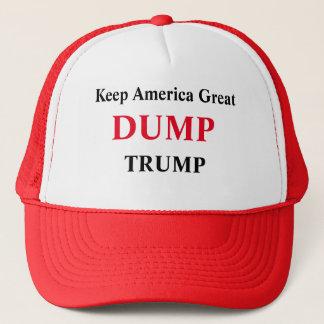Behalten Sie große Kampagne Amerikas - Dump-Trumpf Truckerkappe