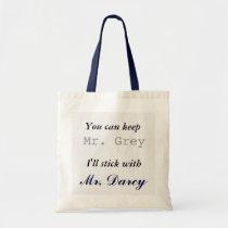 Behalten Sie Herrn Grey I haftet mit Herrn Darcy Budget Stoffbeutel