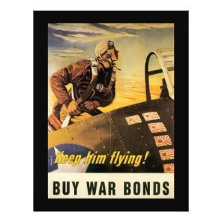 Behalten Sie ihn Fliegen-Zweiter Weltkrieg Flyer