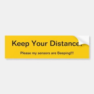 Behalten Sie Ihre Abstands-Sensoren piepen Autoaufkleber