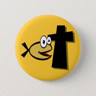Behalten Sie Ihre Augen auf dem Kreuz Runder Button 5,7 Cm