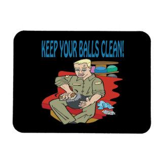 Behalten Sie Ihre Bälle sauber Vinyl Magnet