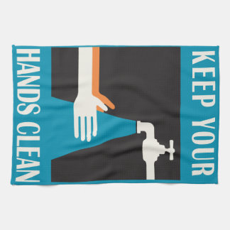 behalten Sie Ihre Hände sauber Küchentuch