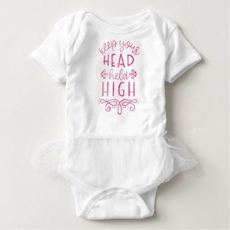 Behalten Sie Ihre Kopf gehaltene hohe motivierend Baby Strampler