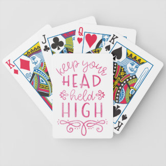 Behalten Sie Ihre Kopf gehaltene hohe motivierend Bicycle Spielkarten