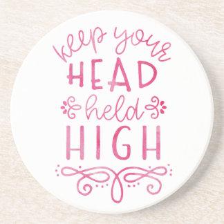 Behalten Sie Ihre Kopf gehaltene hohe motivierend Getränkeuntersetzer