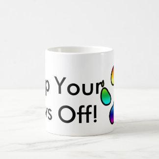 Behalten Sie Ihre Tatzen weg! - Regenbogen Tasse