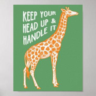 Behalten Sie Ihren Kopf herauf Plakat-Kunst-Druck Poster