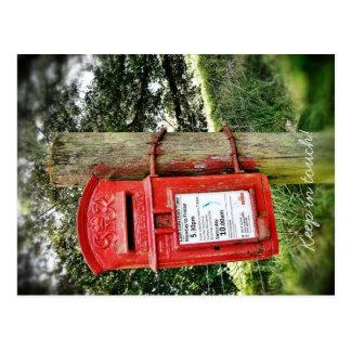 Behalten Sie in der Touch! Postkarte