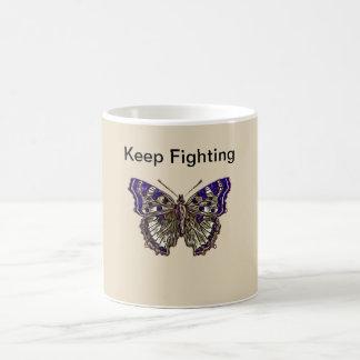 Behalten Sie kämpfende Faser Krieger-Kaffee-Tasse Kaffeetasse
